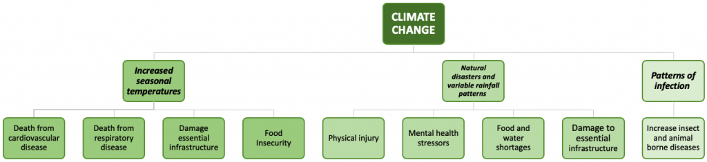 Diagrams - health and climate change